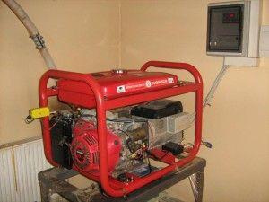 монтаж бензиновых генераторов